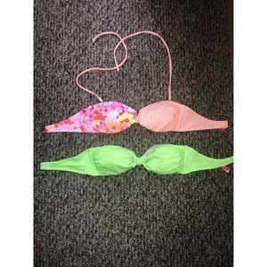 NWOT set of strapless Victorias Secret bikini tops